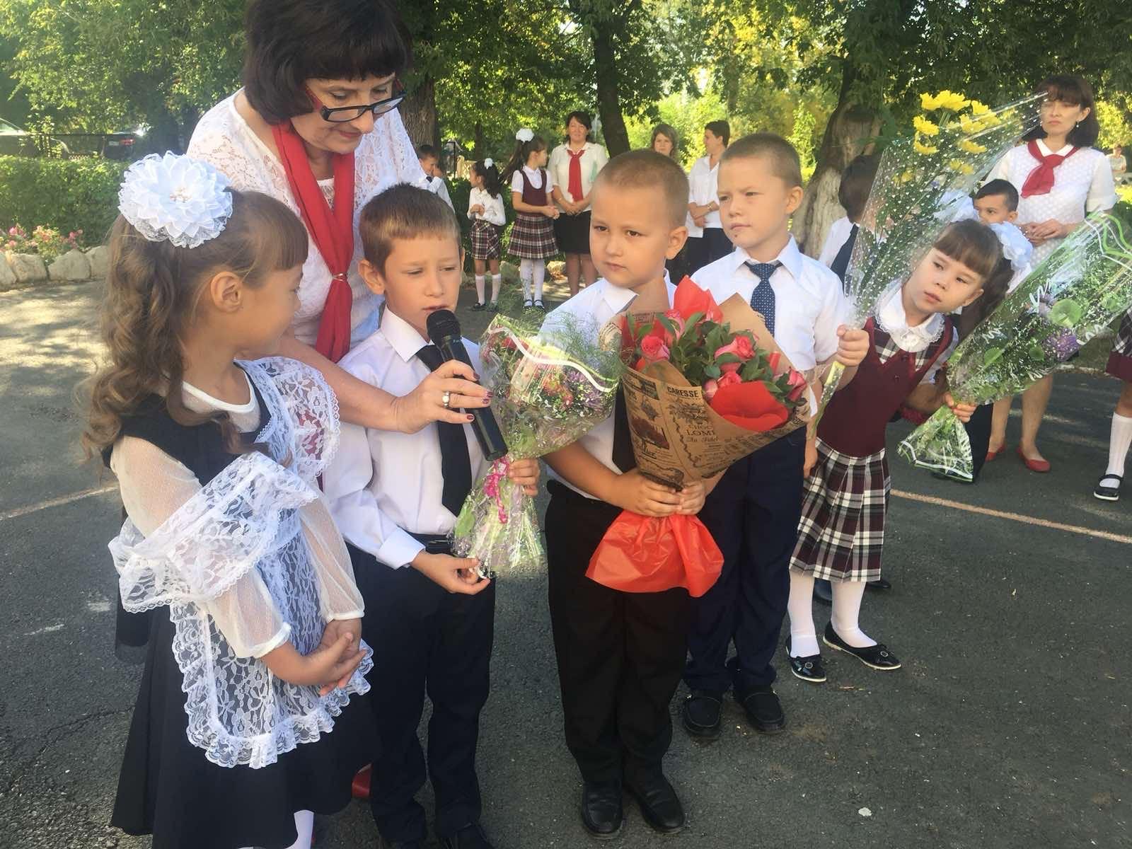 1 сентября в поселке Первомайский